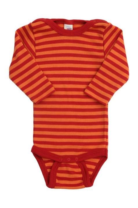 Термободи с длинным рукавом Engel шелк/шерсть красный/оранжевый