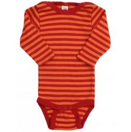 Термободи з довгим рукавом Engel шовк/вовна, червоний, помаранчевий