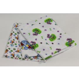 Пеленка для новорожденного фланель  90*110 арт. 204.05