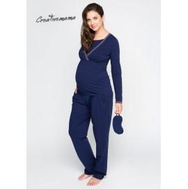 Пижама для беременных и кормления Creative Mama Bluemarine