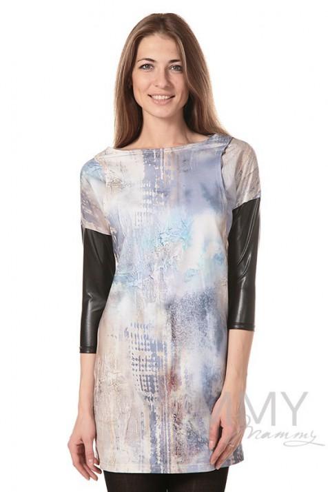 Платье-туника для беременных и кормящих Y@mmy Mammy арт. 333.2.8 пастель
