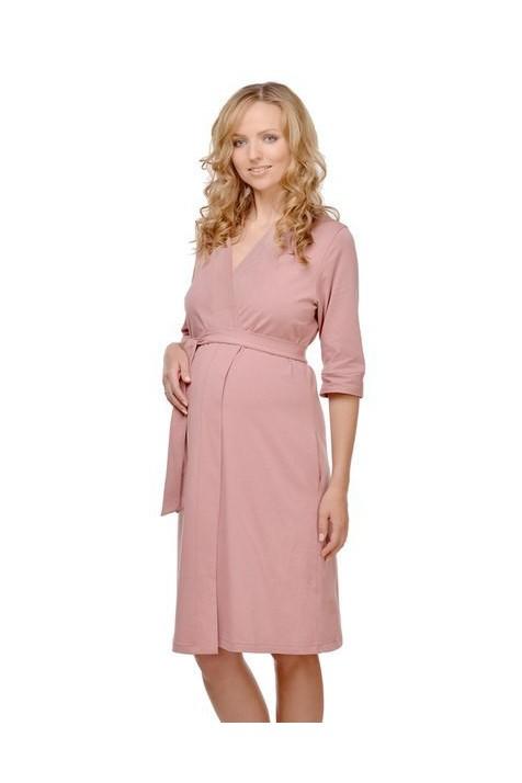 Халат для беременных и кормящих Мамин Дом Трикотажный арт. 25305 кофейный