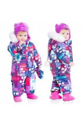 Зимний комбинезон для девочки Deux par Deux D703/004