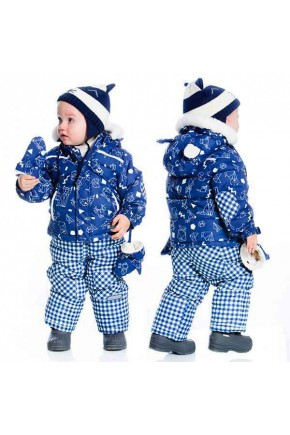 Зимний комплект для мальчика Deux par Deux H813/481 синий