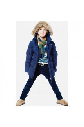 Зимняя куртка для мальчика Deux par Deux W54 т.синяя