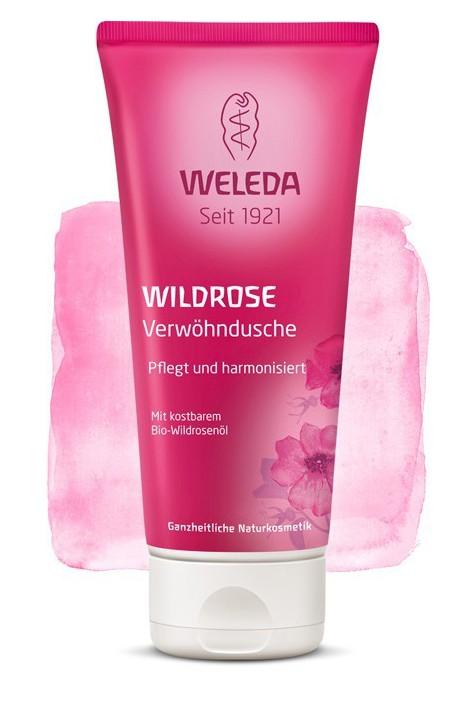 Розовый гармонизирующий гель для душа Weleda 200 мл
