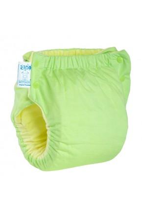 Подгузник многоразовый с карманом Экопупс Easy Size Classic без вкладыша зеленый