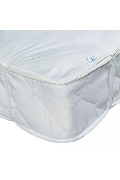 Большой непромокаемый наматрасник Эко Пупс Поверхность Premium белый