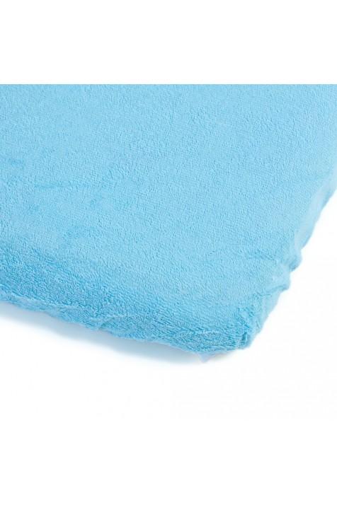 Детский непромокаемый наматрасник Эко Пупс Чехол Classic синий