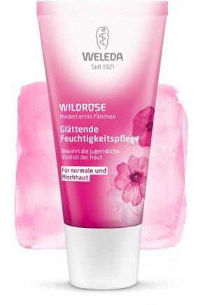 Розовый разглаживающий дневной крем для лица Weleda 30 мл