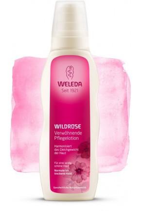 Розовое гармонизирующее молочко для тела Weleda 200 мл