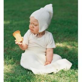 Термошапка для новорожденных Engel из натурального шелка белая