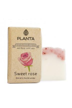 Мыло Planta Sweet rose с маслом Ши