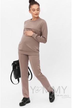 Спортивный костюм для беременных и кормящих, (розовый)
