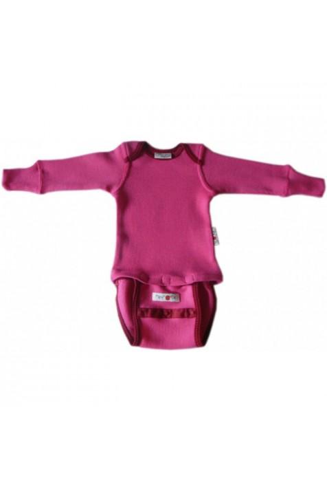 Боди/кофта с длинным рукавом из шерсти мериноса MaM ManyMonths Wild Pink