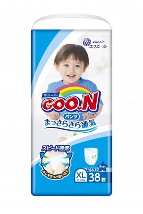 Трусики - подгузники для мальчиков Goo.N 12-20 кг 38 шт