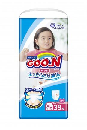 Трусики - подгузники для девочек Goo.N 12-20 кг 38 шт
