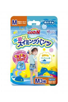 """Плавательные подгузники - трусики """"GOO.N"""", M (7-12 кг), для мальчиков, 3 шт"""