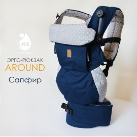 Эрго рюкзак Nash sling - Around 360 Сапфир горохи