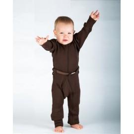 Термокомбинезон из шерсти мериноса цвет Chocolate Brown, MaM ManyMonths