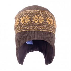 Шапка шлем для мальчика из шерсти мериноса София