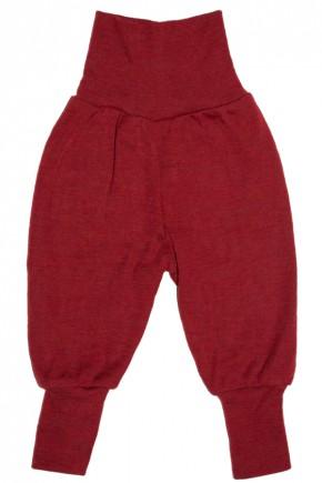 Штаны на флисе Engel из мериносовой шерсти красный меланж