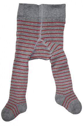 Термоколготки детские Groedo 74097 серый в полоску