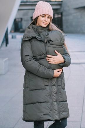 Зимняя слингокуртка 3в1 для беременных и слингоношения Love & Carry олива