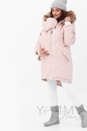 Слінгокуртка-парка 3в1 для вагітних та слінгоносіння Y@mmy Mammy темно-синя
