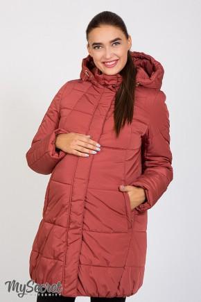 Зимняя куртка для беременных Юла Mama Jena OW-46.092 пыльный кедр