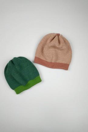 Шапочка из шерсти, меланж/зеленый, Disana