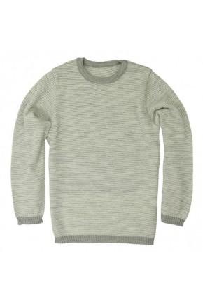 Базовый меланжевый свитер Disana, 100% шерсть мериноса