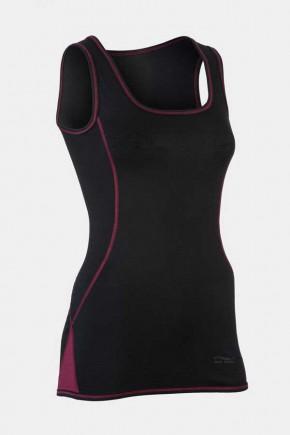 Спортивный топ Engel из шерсти и шелка черный с розовым