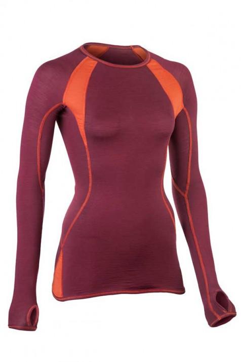 Женская спортивная кофта с длинным рукавом, шерсть/шелк