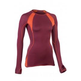 Спортивна кофта Engel з вовни та шовку рожева з помаранчевим