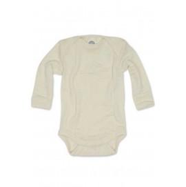 Боди длинный рукав, шерсть/шелк, натуральный цвет, Cosilana
