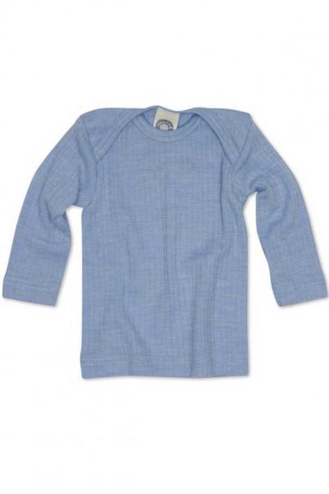 Термокофточка для мальчика с длинным рукавом, хлопок/шерсть/шелк, цветной, Cosilana