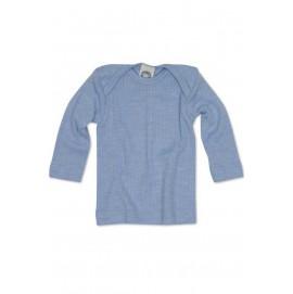 Термокофточка длинный рукав, хлопок/шерсть/шелк, голубой, Cosilana арт. 91033 06