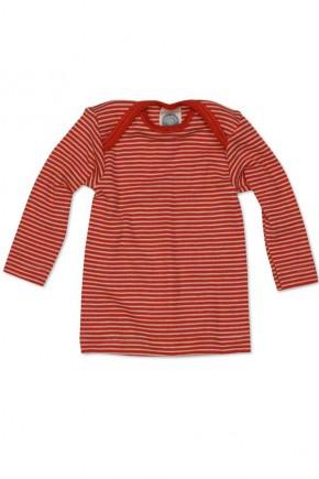Кофточка длинный рукав, шерсть/шелк, красный цвет, Cosilana