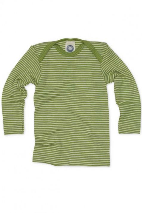 Кофточка длинный рукав, шерсть/шелк, зеленый цвет, Cosilana