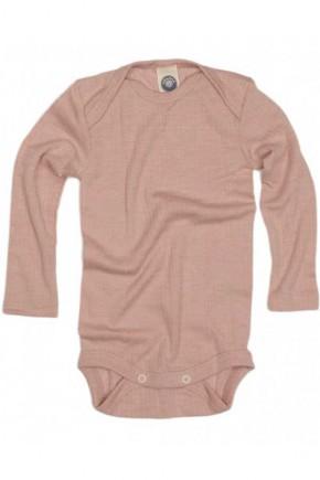 Боди длинный рукав, хлопок/шерсть/шелк, розовый, Cosilana