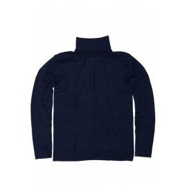 Гольф из шерсти и шелка темно синий, Cosilana
