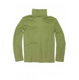 Гольф из шерсти и шелка зеленый в полоску, Cosilana