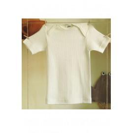 Кофточка Cosilana с коротким рукавом хлопок/шерсть/шелк цвет натуральный