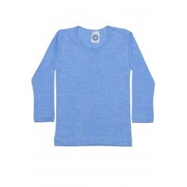 Термокофта Cosilana unisex c длинным рукавом из хлопка, шерсти и шелка голубого цвета