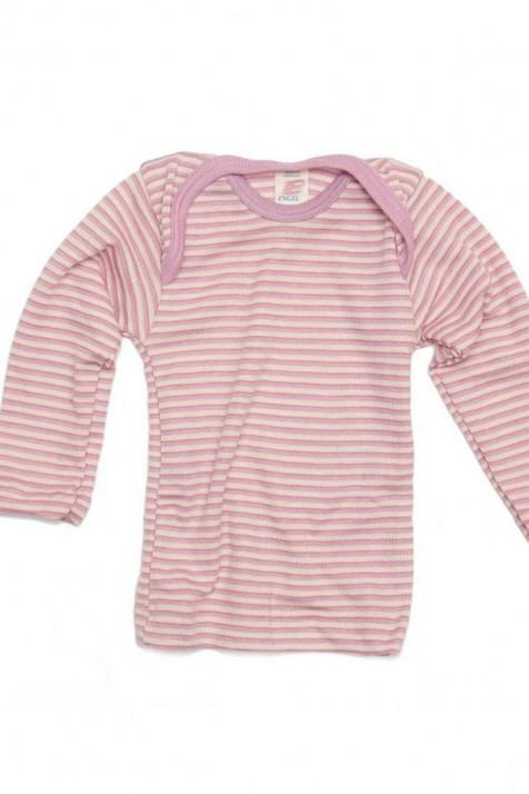 Термокофта с длинным рукавом Engel шелк/шерсть розовая