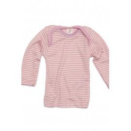 Термокофта з довгим рукавом Engel шовк/вовна рожева