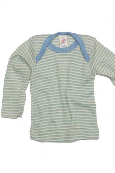 Термокофта с длинным рукавом Engel шелк/шерсть голубая