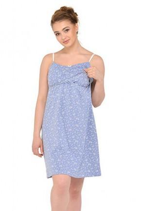 Ночная рубашка для беременных и кормящих Мамин Дом 24166 Fleurs