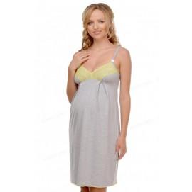 Ночная рубашка для беременных и кормящих Мамин Дом Меланж арт. 25202